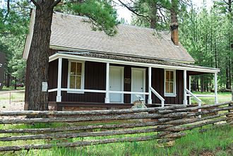 Jacob Lake, Arizona - The historic Jacob Lake Ranger Station, built in 1910. Located one mile west and south of North Kaibab Visitor Center.