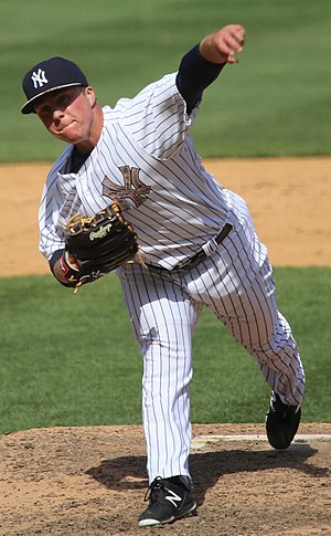 Jacob Lindgren - Lindgren with the New York Yankees