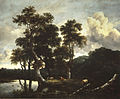 Jacob van Ruisdael - Grove of Large Oak Trees at the Edge of a Pond.jpg