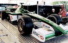 Photo de la Jaguar R2 d'Irvine au GP de France 2001