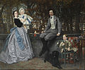 James Tissot - Portrait of the Marquis and Marchioness of Miramon and their children - Google Art Project.jpg