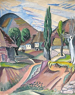 "Jan Matulka - ""Tŭri Pôle Landscape"" by Jan Matulka (1921)"