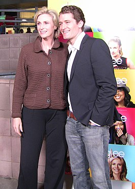 Jane Lynch (met Glee-collega Matthew Morrison)