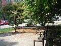 Jasmínová, lavička a klepadlo.jpg