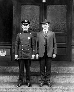Jacksonville Sheriff's Office - Police Chief A. J. Roberts with Mayor John W. Martin around 1923.