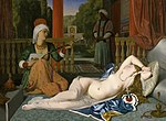 Jean-Paul Flandrin - Odalisque with Slave - Walters 37887.jpg