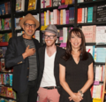Jeff Goldblum, Kliph Nesteroff, Illeana Douglas attend a book event in Hollywood.png