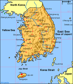 Location in South Korea