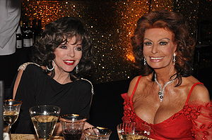 Glamour (presentation) - Joan Collins and Sophia Loren - two icons of glamour.