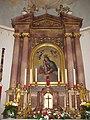 Jochberg, Wallfahrtskirche Mariae Heimsuchung Altar.JPG