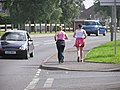 Jogging on the Hospital Road, Omagh - geograph.org.uk - 236086.jpg