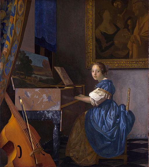 Johannes Vermeer - Zittende Klavecimbelspeelster (1673-1675)