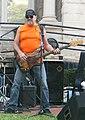 Johnny Castle with The Nighthawks Court Square downtown Harrisonburg VA July 2008.jpg
