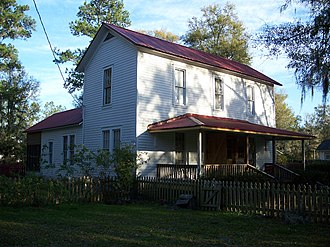 National Register of Historic Places listings in Hamilton County, Florida - Image: Johns House White Springs 01