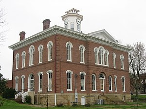 Vienna, Illinois - Johnson County Courthouse, downtown