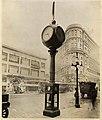 Joseph Mayer & Brothers Co street clock, Market Street, San Francisco, circa 1920 (MOHAI 9032).jpg