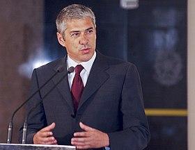Actual primeiro-ministro de Portugal, José Sócrates.