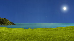 Adobe Photoshop - A 2D landscape designed in Adobe Photoshop CS5 Extended