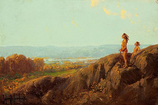Julian Onderdonk - Landscape with Indian Scouts