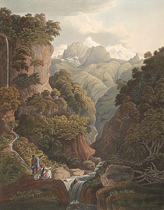 James Baillie Fraser - Jumnotree, the source of the River Jumna (1820)