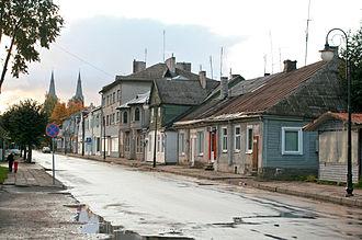 Jurbarkas - Kaunas street in Jurbakas