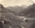 KITLV 100419 - Unknown - River through a mountain valley, presumably at Srinagar in Kashmir in British India - Around 1870.tif