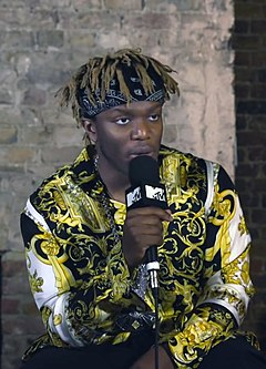 KSI (entertainer) British YouTube personality, rapper, actor, and white collar boxer