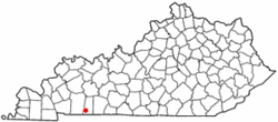 Location of Trenton, Kentucky
