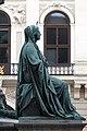 Kaiser Franz-Denkmal Hofburg Wien 2015 Sitzfiguren Glaube.jpg