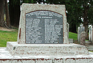 Kaitangata, New Zealand - Memorial to the 1879 mining disaster