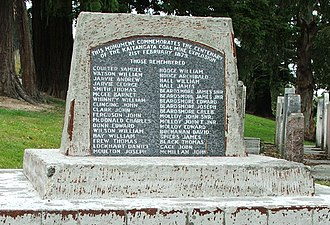 South Otago - Memorial to the 1879 Kaitangata mining disaster.
