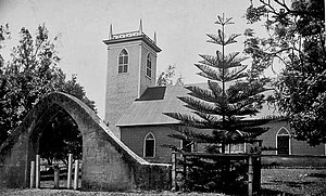 Bond District - Kalahikiola Church near the end of the 19th century
