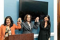 Kamala Harris with Pramila Jayapal and Ai-jen Poo.jpg