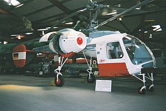 The Helicopter Museum (Weston) - Kamov Ka-26 from pre-unification East Germany, at the museum in June 2004