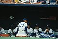 Kansas City Royals dugout 1991.jpg