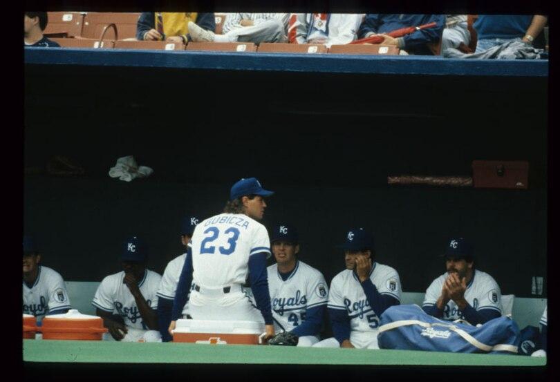 Kansas City Royals dugout 1991