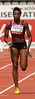 Karel Elodie Ziketh Women 100 m French Athletics Championships 2013 t151420 (cropped).jpg