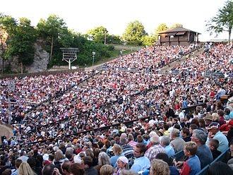 Kalkberg Stadium - Audience at a performance during the Karl May Festival