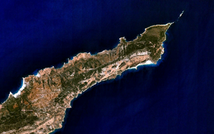 Karpass Peninsula - Part of the Karpass Peninsula from space