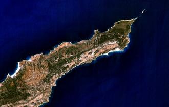Karpass Peninsula - Part of the Karpass Peninsula from space