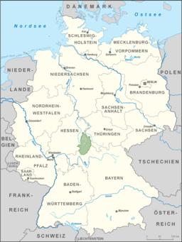 Karte Rhön