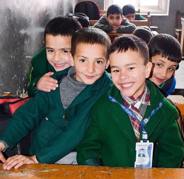 Kashmiri school children from Baramulla
