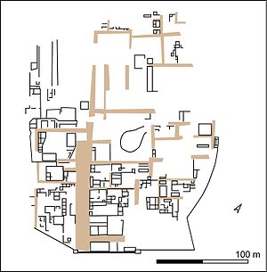 Kulli culture - Plan of the Kulli settlement Kasota Qila Mound II