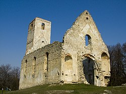 Katarínka, the ruins of a Franciscan monastery and church near Dechtice