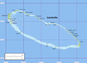 Kaukura - Map of Kaukura Atoll.