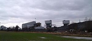 Mining in the United Kingdom - Kellingley Colliery on the border of West and North Yorkshire