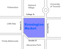 Location of Kensington Market