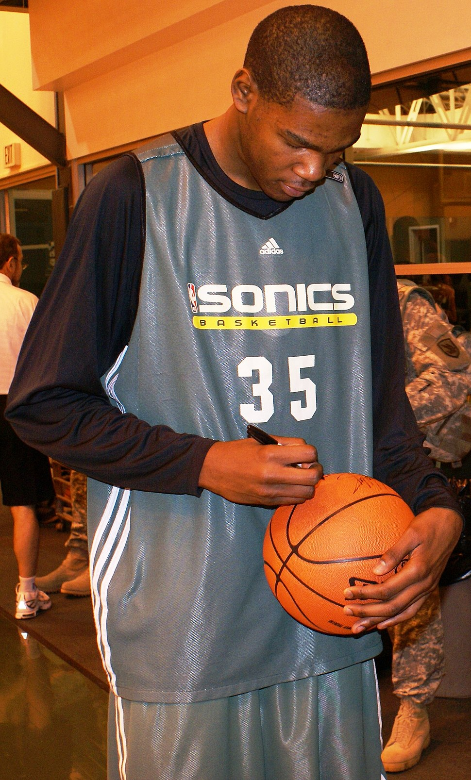 Kevin Durant Sonics practice facility Jan 3, 2008