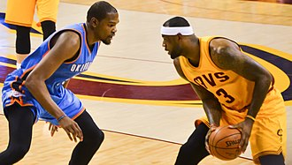 Kevin Durant - Durant guards LeBron James in January 2015.