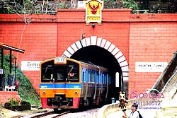Khun Tan Tunnel of Khun Tan Railway Station in Mae Tha District, a part of Khun Tan Range